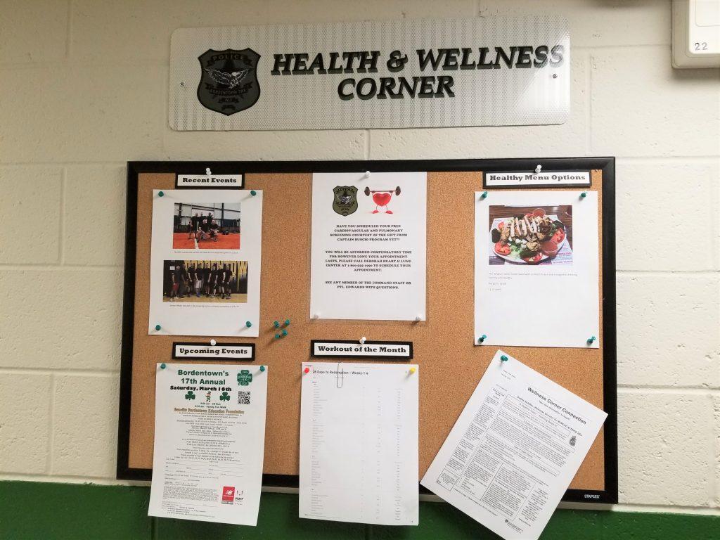 "Health and Wellness Corner"" Bulletin Board"