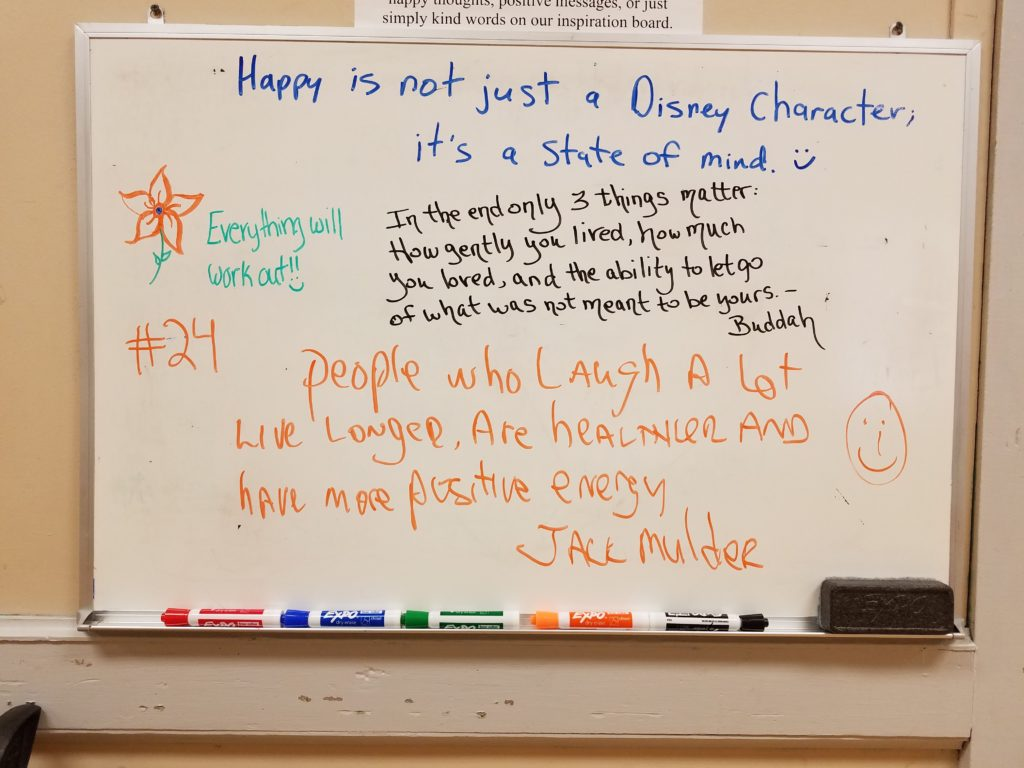 Beverly City White Board of Positivity